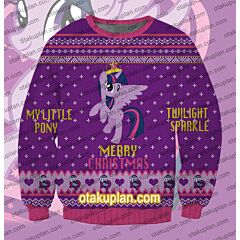 My Little Pony Twilight Sparkle 3D Print Ugly Christmas Sweatshirt