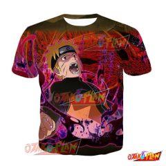 Naruto Naruto Uzumaki Taboo-Breaking Frustration Blazing Awakened T-Shirt