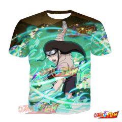 Naruto Neji Hyuga Burden of Fate Blazing Awakened T-Shirt