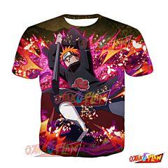 Naruto Pain Tendo Endless Cycle of Battle Blazing Awakened T-Shirt