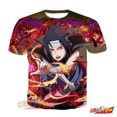 Naruto Sasuke Uchiha All-Ending Thunderbolt Blazing Awakened T-Shirt