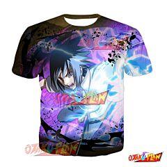 Naruto Sasuke Uchiha One Step to Hokage Blazing Awakened T-Shirt