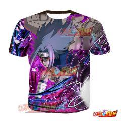 Naruto Sasuke Uchiha Parting Wings Blazing Awakened T-Shirt