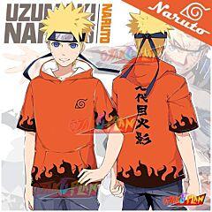 Naruto Hokage 7th Naruto Hooded T-shirt