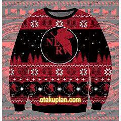 Neon Genesis Evangelion Logo 3D Print Ugly Christmas Sweatshirt