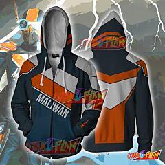 Borderlands Maliwan Zip Up Hoodie Jacket