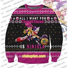 Ninjala Gum Bubble 3D Print Ugly Christmas Sweatshirt