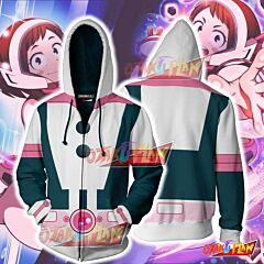 Boku No Hero Academia Ochako Uraraka Hoodie Cosplay Jacket Zip Up