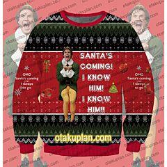 OMG Santa Elf 3D Print Ugly Christmas Sweatshirt