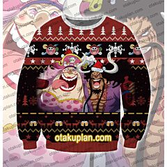 One Piece Bis Mom Kaido drink 3D Print Ugly Christmas Sweatshirt
