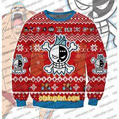 One Piece Franky 3D Print Ugly Christmas Sweatshirt