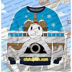 One Piece Going Merry 3D Print Ugly Christmas Sweatshirt