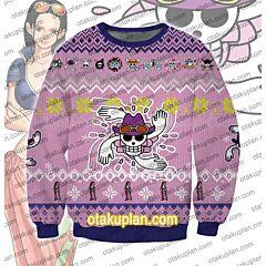 One Piece Nico Robin 3D Print Ugly Christmas Sweatshirt