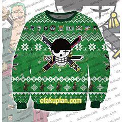 One Piece Roronoa Zoro 3D Print Ugly Christmas Sweatshirt