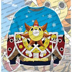 One Piece Thousand Sunny 3D Print Ugly Christmas Sweatshirt