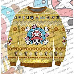 One Piece Tony Tony Chopper 3D Print Ugly Christmas Sweatshirt