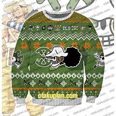 One Piece usopp 3D Print Ugly Christmas Sweatshirt