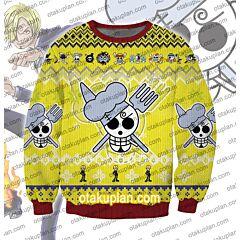 One Piece Vinsmoke Sanji 3D Print Ugly Christmas Sweatshirt