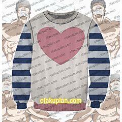 One Punch Man Puri-Puri Prisoner Sweater Back Point 3D Print Ugly Christmas Sweatshirt