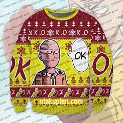 One Punch Man Saitama 3D Print Ugly Christmas Sweatshirt
