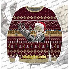 One Punch Man Saitama Genos Fighting Training 3D Print Ugly Christmas Sweatshirt