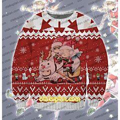 One Punch Man Saitama Genos Watchdog Man 3D Print Ugly Christmas Sweatshirt