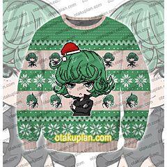 One Punch Man Tatsumaki 3D Print Ugly Christmas Sweatshirt