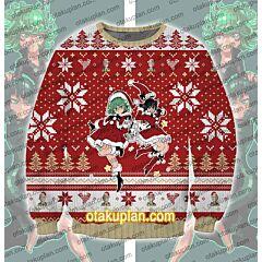 One Punch Man Tatsumaki Fubuki 3D Print Ugly Christmas Sweatshirt