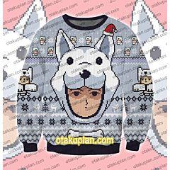 One Punch Man Watchdog Man 3D Print Ugly Christmas Sweatshirt