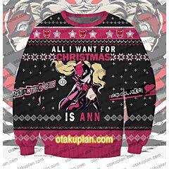 Persona 5 Ann Takamaki 3D Print Ugly Christmas Sweatshirt