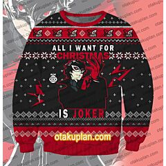 Persona 5 Joker 3D Print Ugly Christmas Sweatshirt