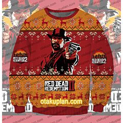 Red Dead Redemption 3D Print Ugly Christmas Sweatshirt