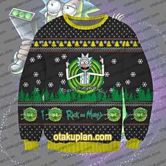 Rick and Morty Crackyl Rick 3D Print Ugly Christmas Sweatshirt
