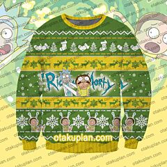 Rick and Morty Logo 3D Print Ugly Christmas Sweatshirt