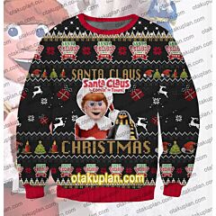 Santa Claus Is Comin' To Town 3D Print Ugly Christmas Sweatshirt