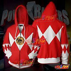 Power Rangers Red Zip Up Hoodie Jacket