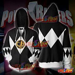 Power Rangers Black Zip Up Hoodie Jacket