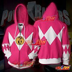 Power Rangers Pink Zip Up Hoodie Jacket