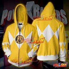 Power Rangers Yellow Zip Up Hoodie Jacket