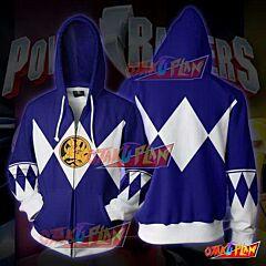 Power Rangers Blue Zip Up Hoodie Jacket