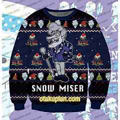 Snow Miser Cool Dude The Year Without A Santa Claus 3D Print Ugly Christmas Sweatshirt