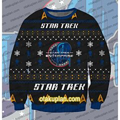 Star Trek Enterprise 3D Print Ugly Christmas Sweatshirt
