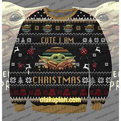 Star Wars Baby Yoda 3D Print Ugly Christmas Sweatshirt