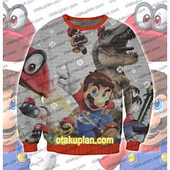 Super Mario Odyssey 3D Print Ugly Christmas Sweatshirt