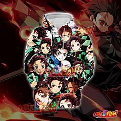 Demon Slayer Kimetsu no Yaiba Tanjirou Green Emoticon Hoodie