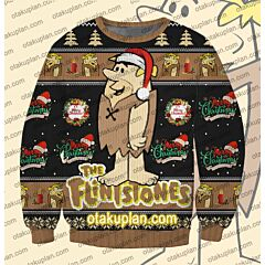 The Flintstones Barney Rubble 3D Print Ugly Christmas Sweatshirt