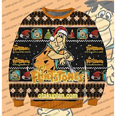 The Flintstones Wilma Flintstone 3D Print Ugly Christmas Sweatshirt