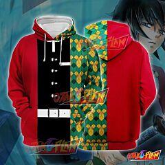 Demon Slayer Kimetsu no Yaiba Tomioka Giyuu Red And Green Cosplay Hoodie