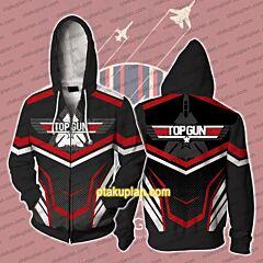 Top Gun Alternative Graphic Logo Zip Up Hoodie