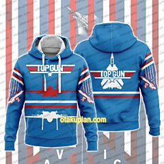 Top Gun Red And White Lines Hoodie